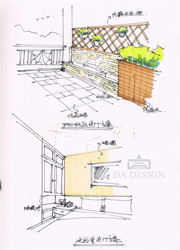 两层房屋平面图手绘图