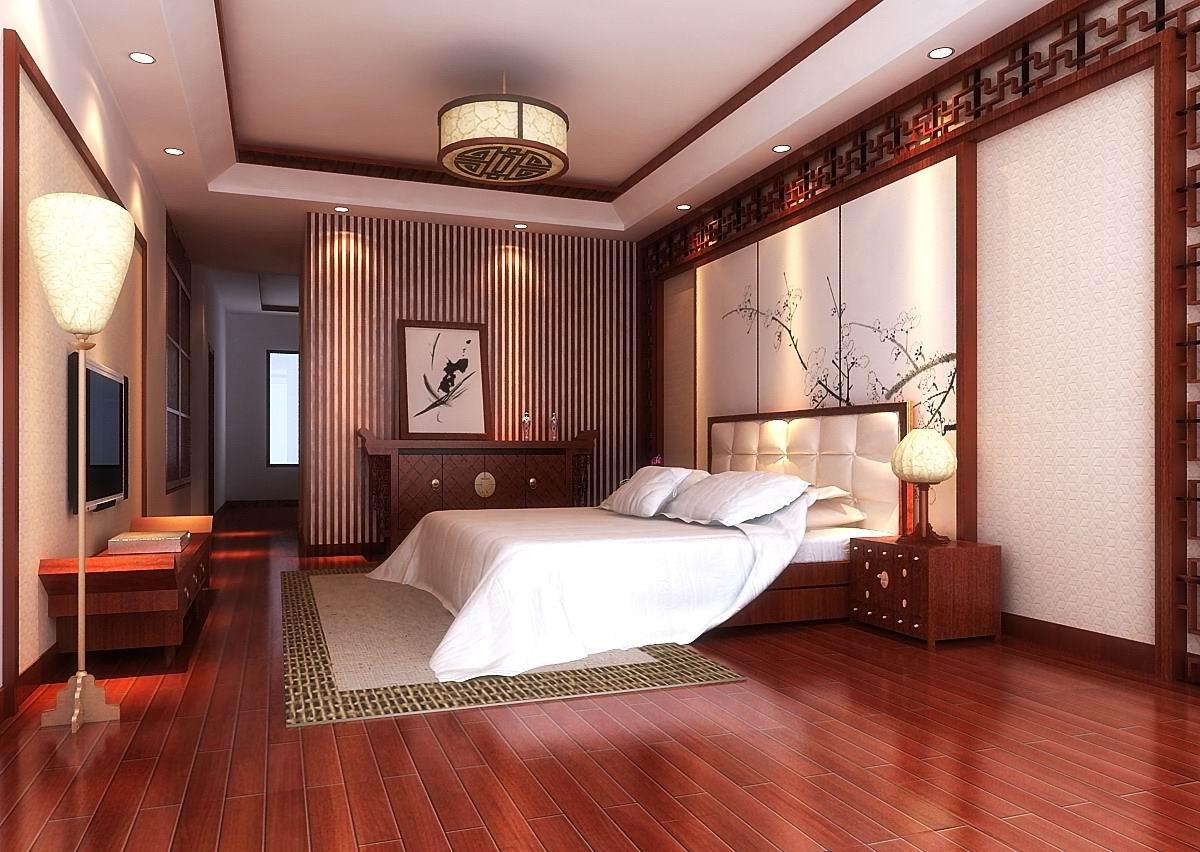新中式风格 客房效果图
