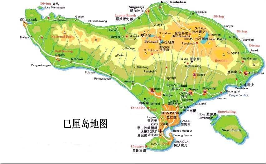 巴厘岛蓝点教堂地图