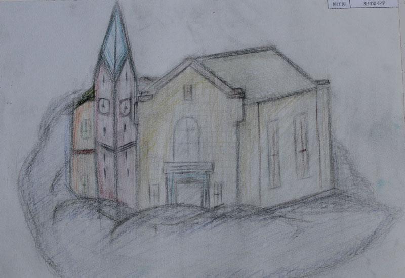 我心中的家园绘画作品,我的美好家园美术绘画,我的家园绘画,我-