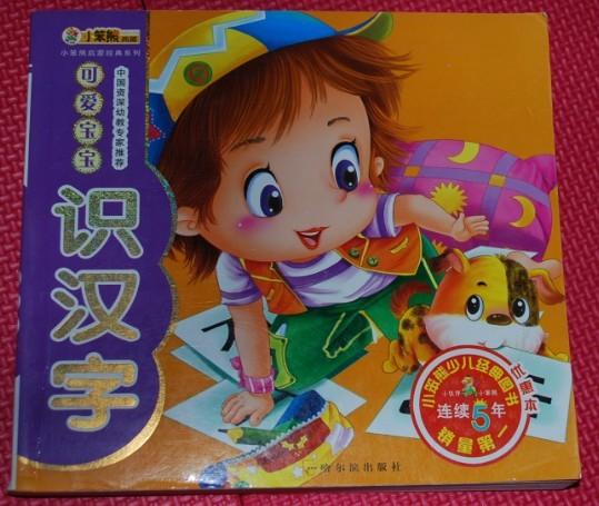 宝宝的书 快乐早教4 5岁 小笨熊快乐识字 学前识词 学成