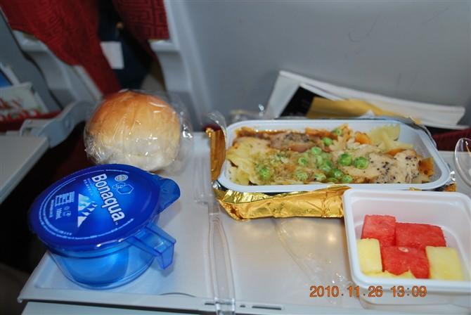 这个是我们丰富的飞机餐