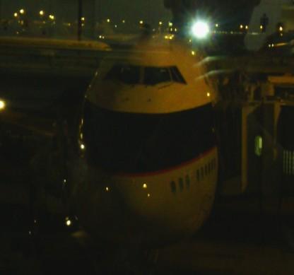10日晚上从香港出发,国泰的cx289航班,凌晨原因,大飞机看不清啊.