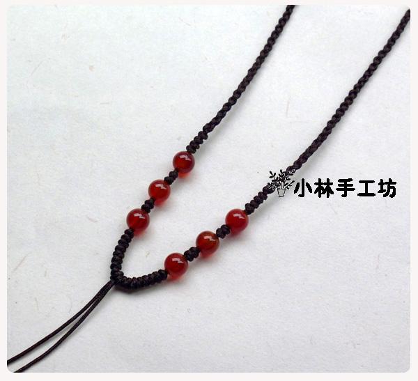 编织个性玛瑙金刚结项链绳玉佩挂绳diy红绳中国结
