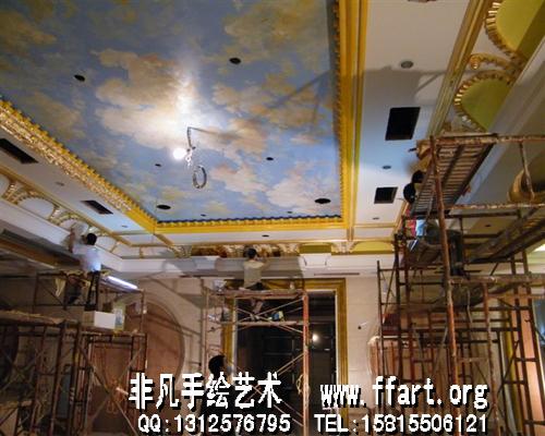 会议厅手绘墙画