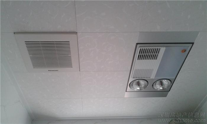 左面松下排气扇,右面奥普浴霸