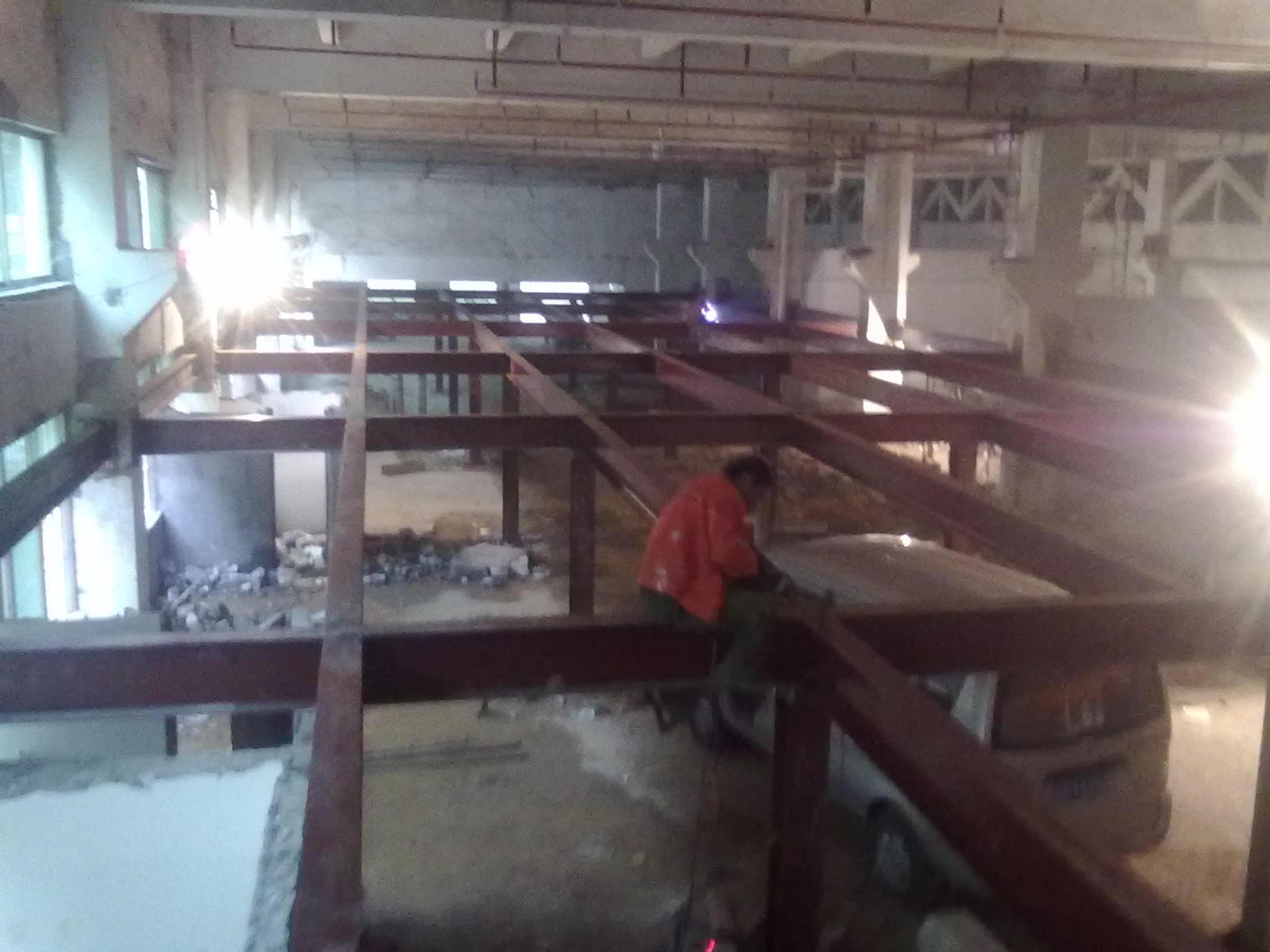深圳龙岗780平方钢结构混凝土夹层扩建工程