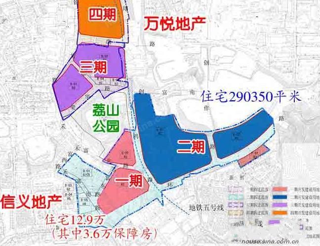 看看信义金稻田的总体规划图吧