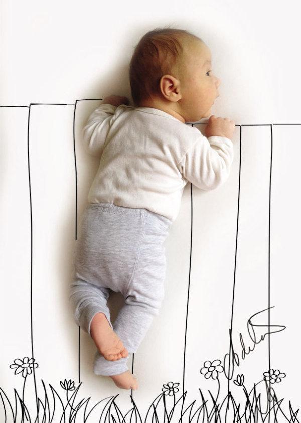 国外母亲把宝宝睡觉的照片变成了艺术