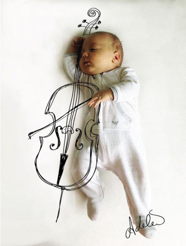 亲子 漂亮宝贝  > 国外母亲把宝宝睡觉的照片变成了艺术,超赞!