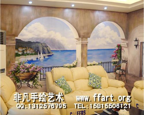 现代家庭电视背景墙,沙发背景墙画,天顶彩绘,卧室背景墙绘,儿童卡通画