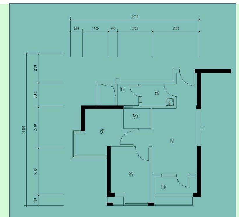 楼房90平米设计图