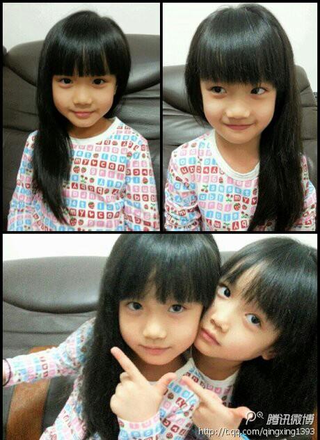 好可爱的双胞胎姐妹哦
