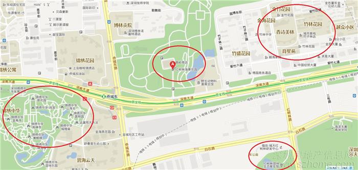 深圳西湾红树林公园地图