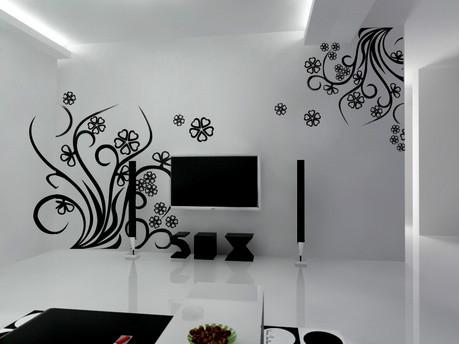 彩绘电视背景墙,客厅壁画
