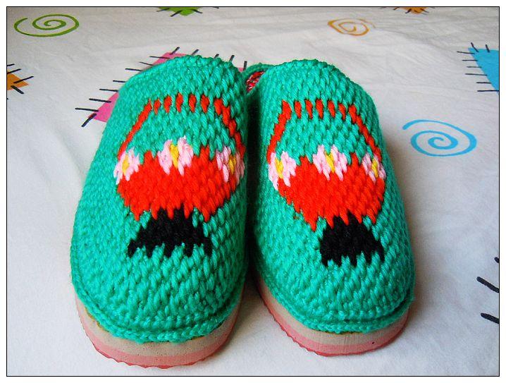 diy手工制作---毛线拖鞋