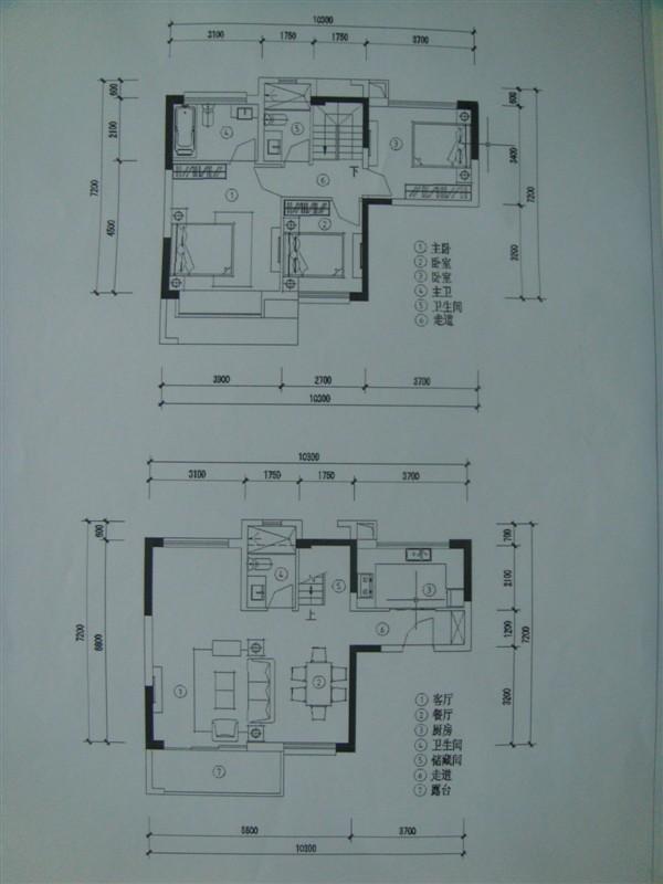 求金色沁园2栋3单元复式01号房户型图