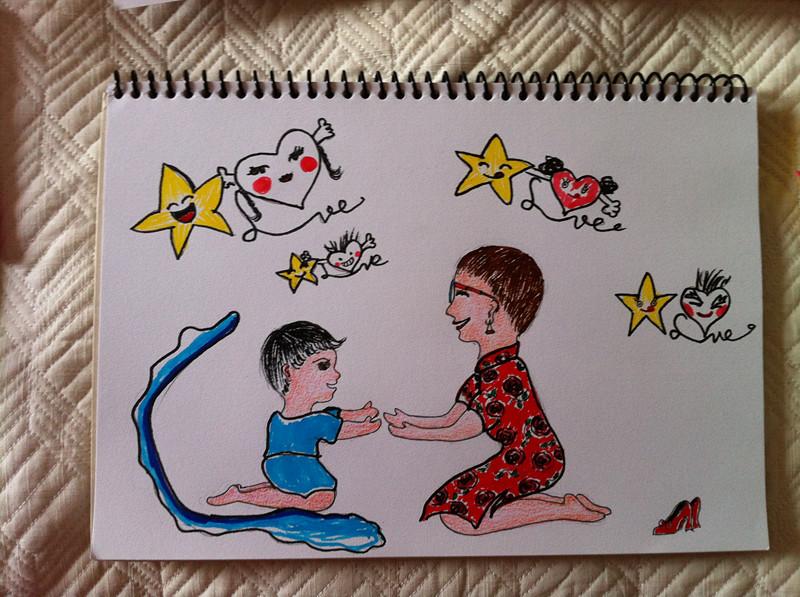 speak softly love!------关注自闭症,姐的创意画图片