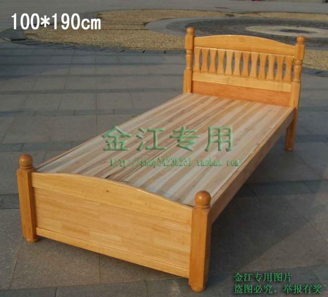 1米实木床,借用网上的图片