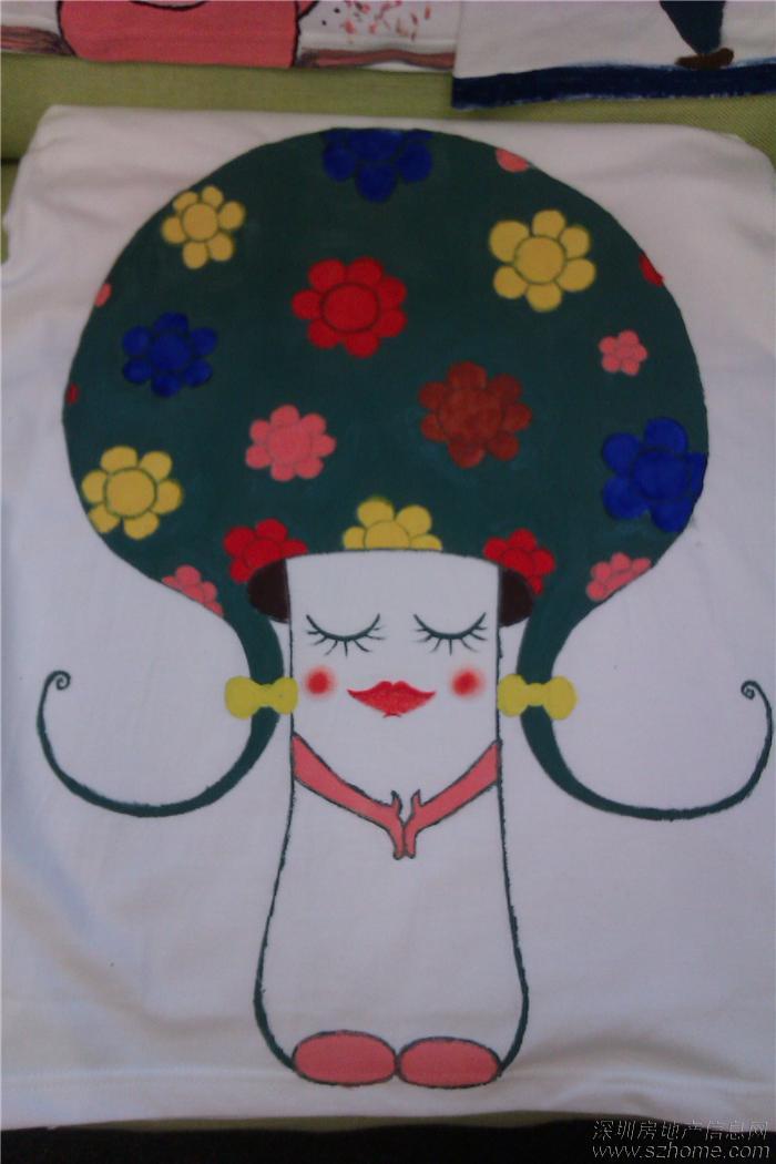 手绘t恤创意图案 儿童